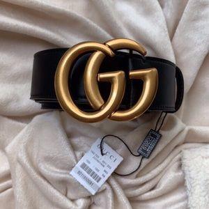yNew Gucci GG Belt Àüthentíć Double G Marmot Gold